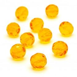 Broušené korálky - 12 mm - 8002 - Jantar