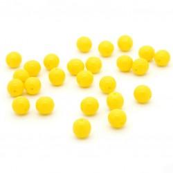 Mačkané korálky - 8 mm - 8312 - žluté