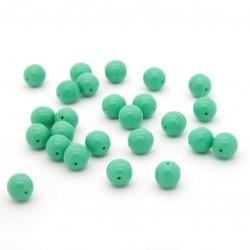 Mačkané korálky - 8 mm - 5313 - tyrkysové zelené