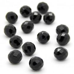 Broušené korálky - 10 mm - 2398 - Černá