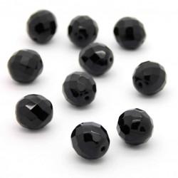 Broušené korálky - 12 mm - 2398 - Černá