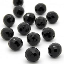 Broušené korálky - 14 mm - 2398 - Černá