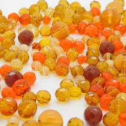 Broušené korálky mix - ramš - II. jakost
