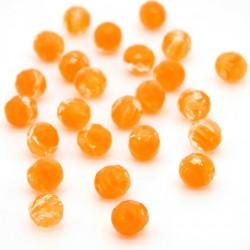 Broušené korálky - 8 mm - 07911 - Oranžový pruh