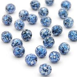 Broušené korálky - 8 mm - 2398/45706 - Černý-modro-stříbrný