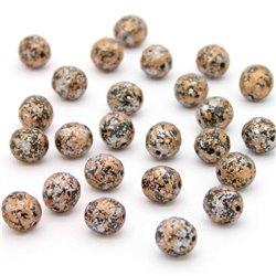 Broušené korálky - 8 mm - 2398/45709 - Černý-světle měděno-stříbrný