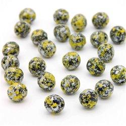 Broušené korálky - 8 mm - 2398/45701 - Černý-žluto-stříbrný