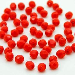 Broušené korálky - 6 mm - 9321 - Korál