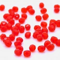 Broušené korálky - 6 mm - 9320 - Červený korál