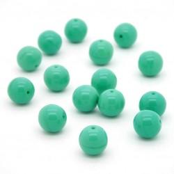 Mačkané korálky - 10 mm - 5313 - Zelená