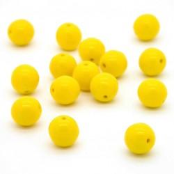 Mačkané korálky - 10 mm - 8312 - Žlutá