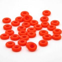Mačkané rybářské kroužky 10 mm - červené